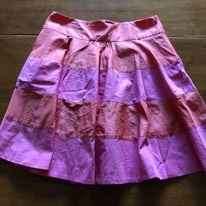 J Crew 10 orange and pink skirt Like new